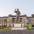Independence square with Samora Machel statue and ...
