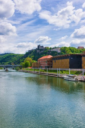 Besancon citadel and Doubs river Bourgogne Franche Comte France