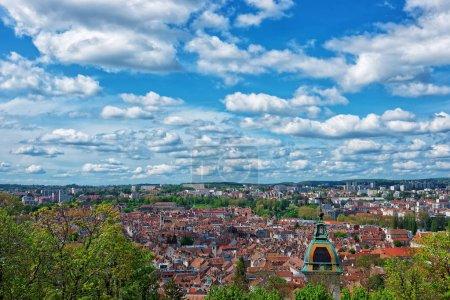 Old city in Besancon Bourgogne Franche Comte France