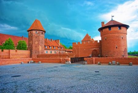 Entrance into Malbork Castle at Pomerania Poland