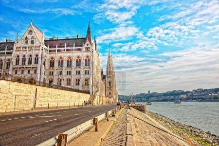Hungarian Parliament building in Budapest city center