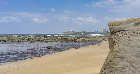 Rocky Australian beachfront panorama