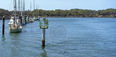 Green starboard channel marker