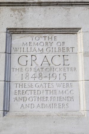WG Grace Plaque at Lords Cricket Ground