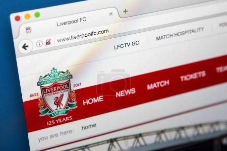 Сайт ФК Ливерпуль