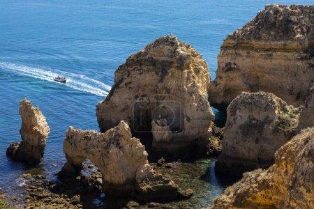 The beautiful view from Ponta da Piedade in Lagos, Portugal.
