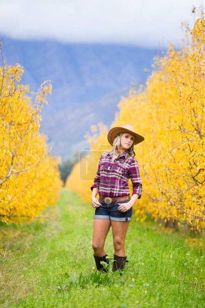 Portrait of Beautiful elegance   cowgirl