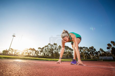 female sprinter athlete