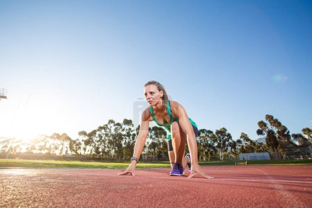 female sprinter athlete