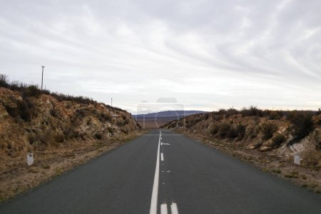 Wide angle of open road