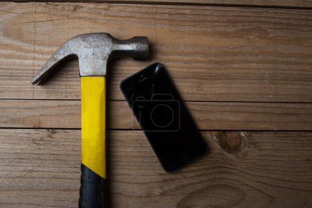 hammer with a smart phone