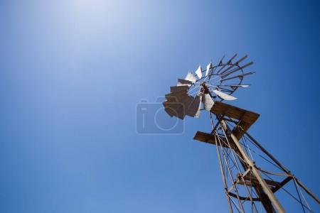 wide angle image of a windmill