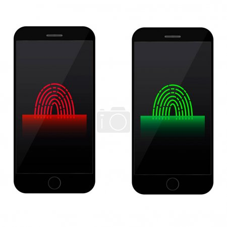 fingerprint scanning on mobile phone