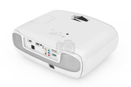 Home Cinema Entertainment Full HD Projector. 3d Rendering
