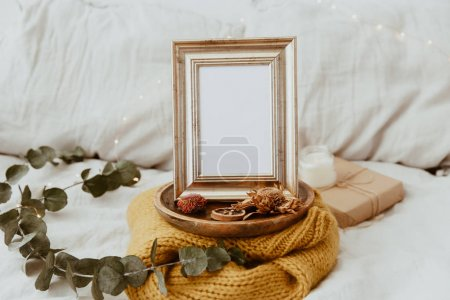 Mock Up Frame. Hipster Home Decor. Trendy Composition