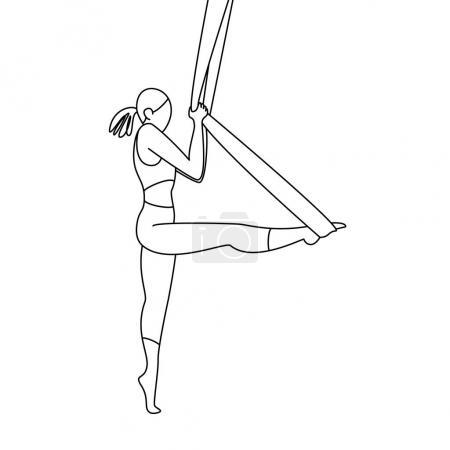 gymnast in the aerial silks