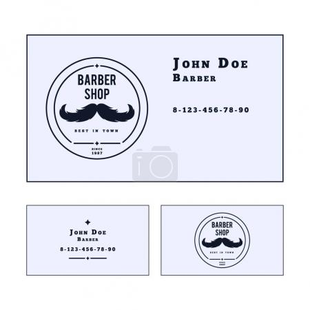 Card template for barber shop