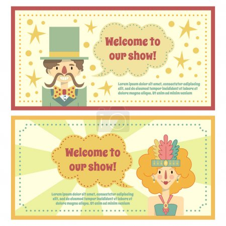 templates for circus banner or ticket