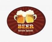 Mug of beerFoaming beer
