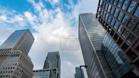 Photo for View of modern office buildings in the financial district of the Docklands in London - Royalty Free Image