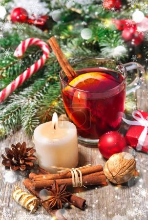 Christmas red mulled wine