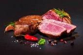 Grilled beef fillet steaks mignon