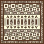 Geometrical abstract pattern from decorative ethnic ornament elements   African Mexican Turkmen texture (background) for packing textile interior web design Vector illustration