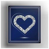 Valentine heart in frame Suitable for invitation flyer sticker poster banner cardlabel cover web Vector illustration