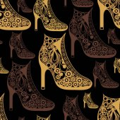 Seamless texture with decorative shoes 18