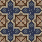 Abstract seamless pattern from decorative ornament elements (Ramadan rosary)  Texture (background) for packing textile interior web design Vector illustration