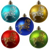 Graphic illustration with Christmas decoration 11