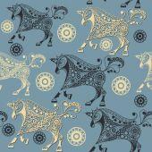 Seamless pattern with decorative unicorn 18
