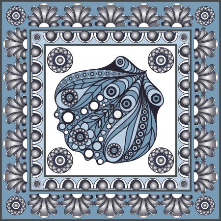 Graphic illustration with ceramic tiles 33