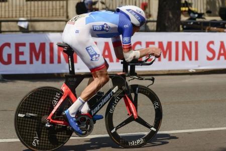 Tobias Ludwigsson competitor at high speed at Giro 2017, Milan