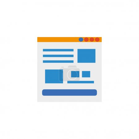 web page social media flat style icon
