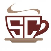 icon logo initials for coffee shop business with combination of letter S and C