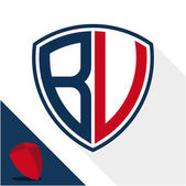 Icon logo / shield badge with a combination of B & V initials