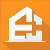 icon logo for the construction business with combination of the initials E & C