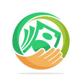 icon logo for fundraising business loan money save money and other financial management