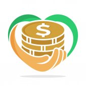 icon illustration with concept fundraising business loan money money saving and other financial management