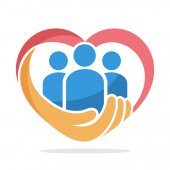 icon illustration with the concept of family care care about humanity