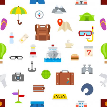 set of tourism and travel icons