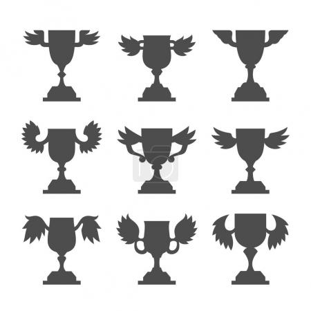 set of winner cups icons