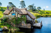 Water house in the Hobitton village in New Zealand