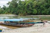 Boats at Puno river Ecuador