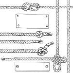 Marine ropes and frames, vector illustration...