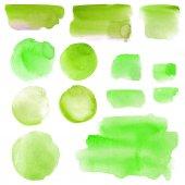 watercolor blots set