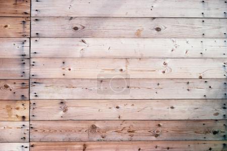 Wooden deck wall