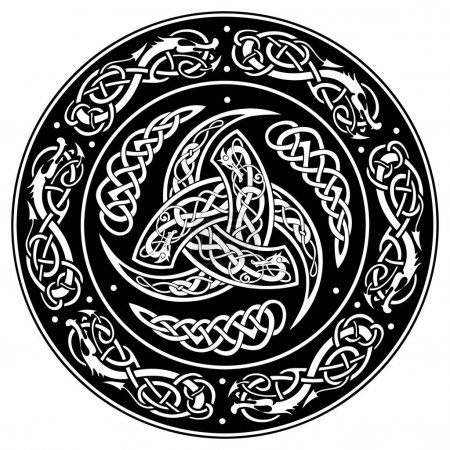 Celtic shield, decorated with a ancient European pattern