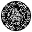 Celtic shield, decorated with a ancient European p...